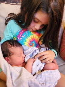 Elizabeth holding Hannah